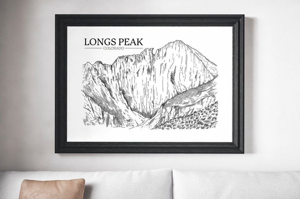 Longs Peak Print | Colorado | Mountain Décor | Modern Wall Art