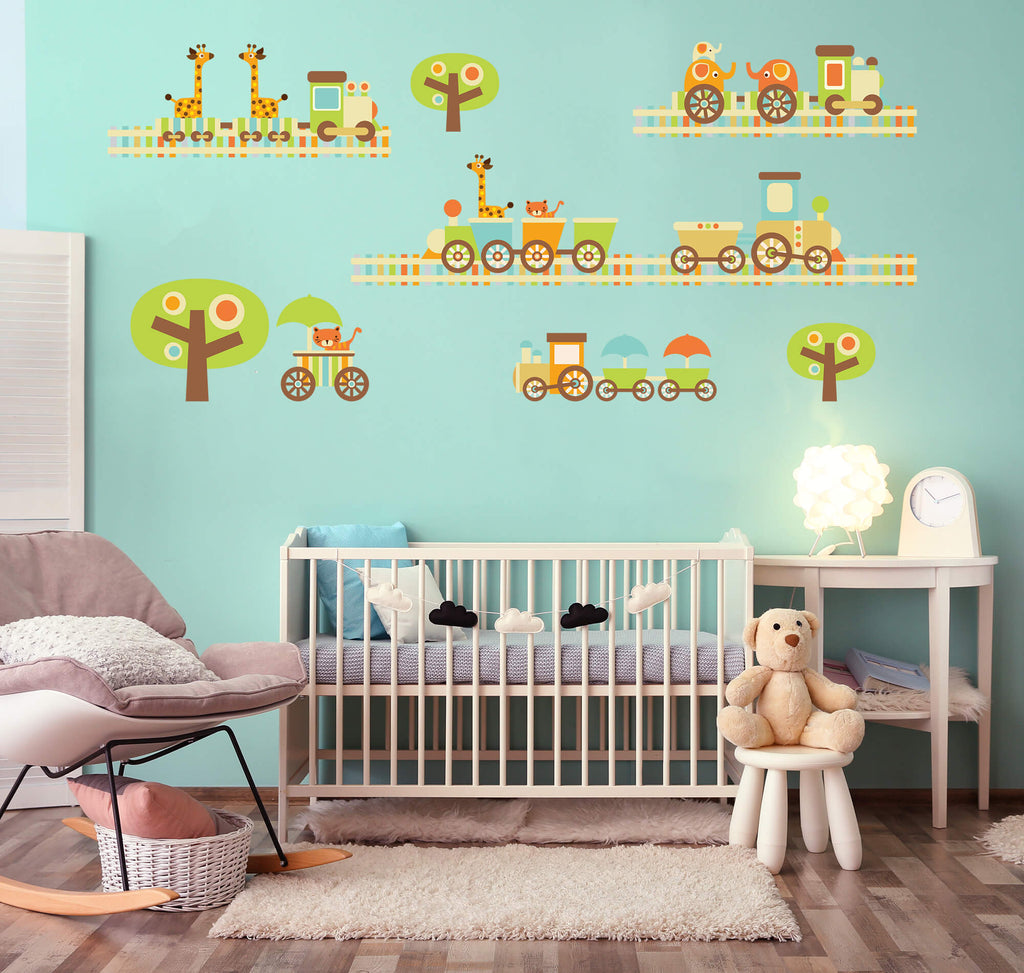 Animals on the Move! Animal Nursery Wall Decals