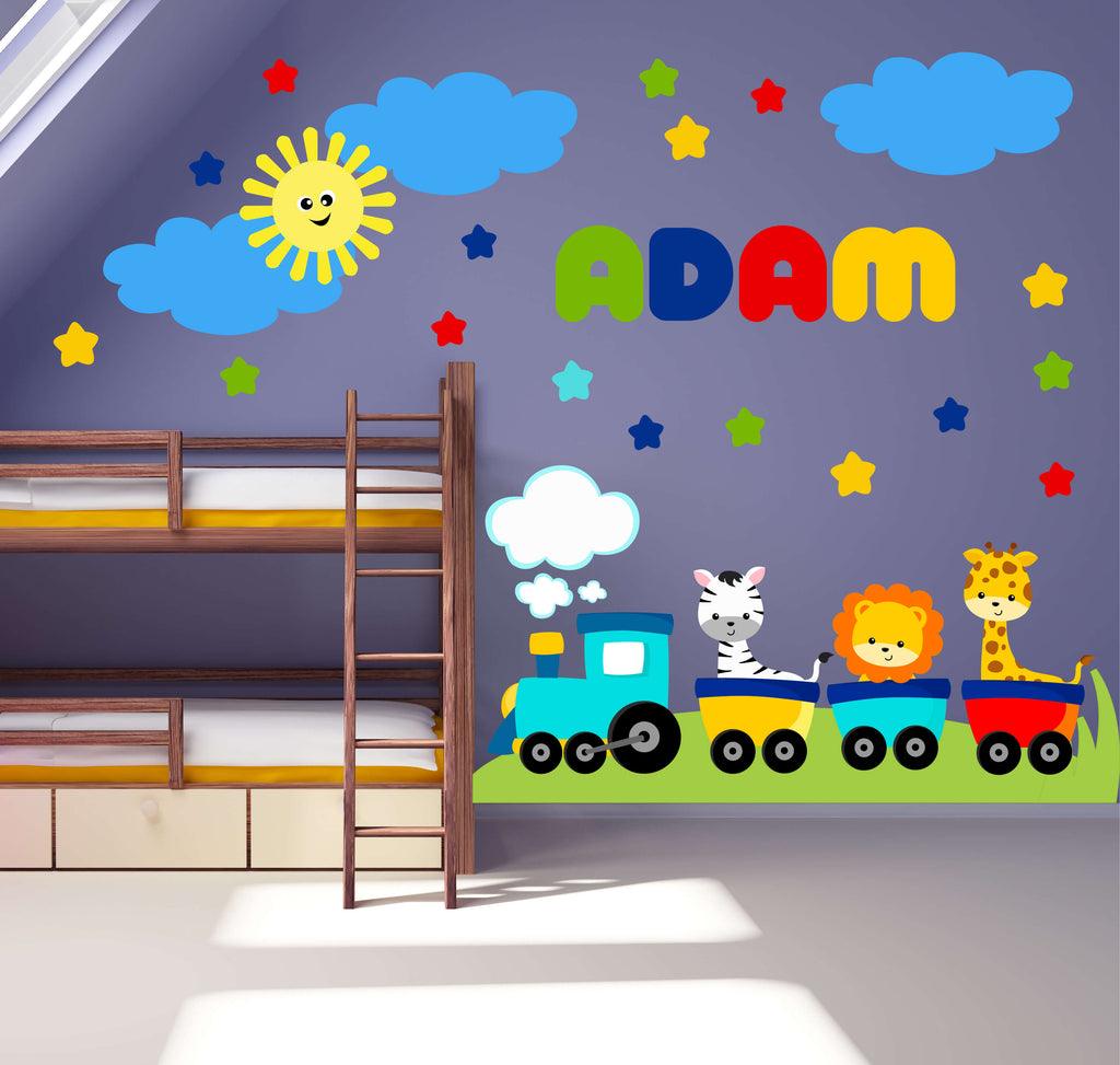 Cutey Express! Nursery Train Wall Decals