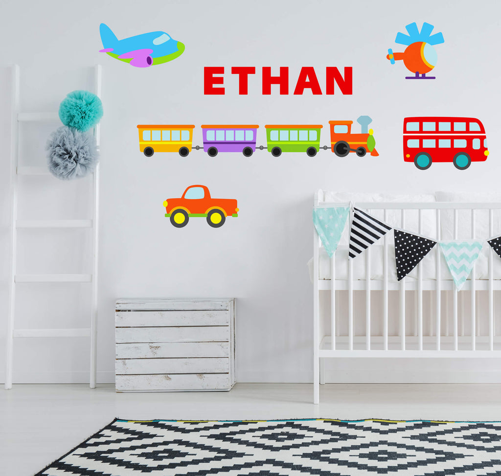 Transportation Fun! Transportation Nursery Wall Decals