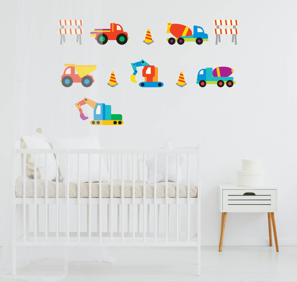 Crazy Trucks! Transportation Nursery Wall Decals