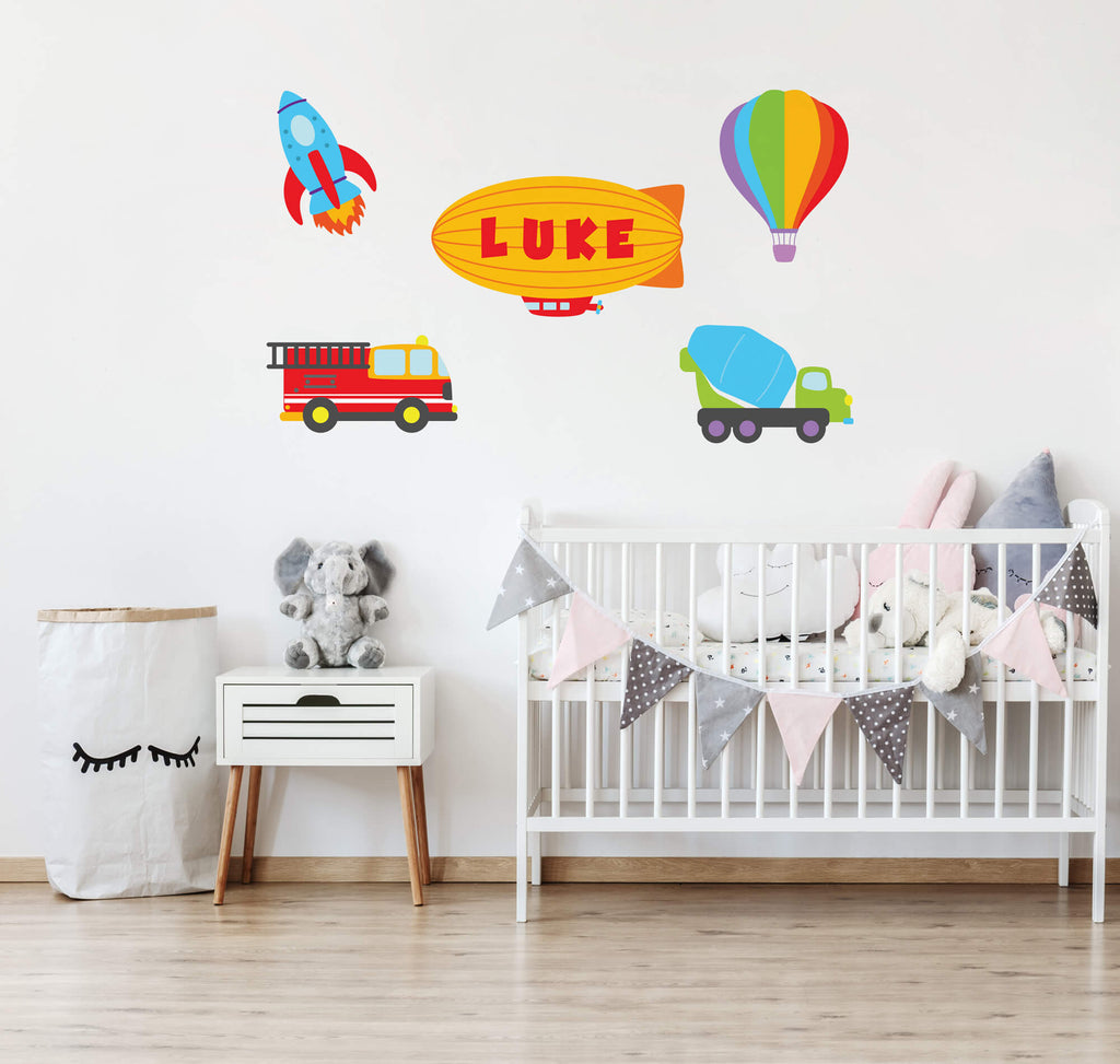 Up, Up, and Away! Transportation Nursery Wall Decals
