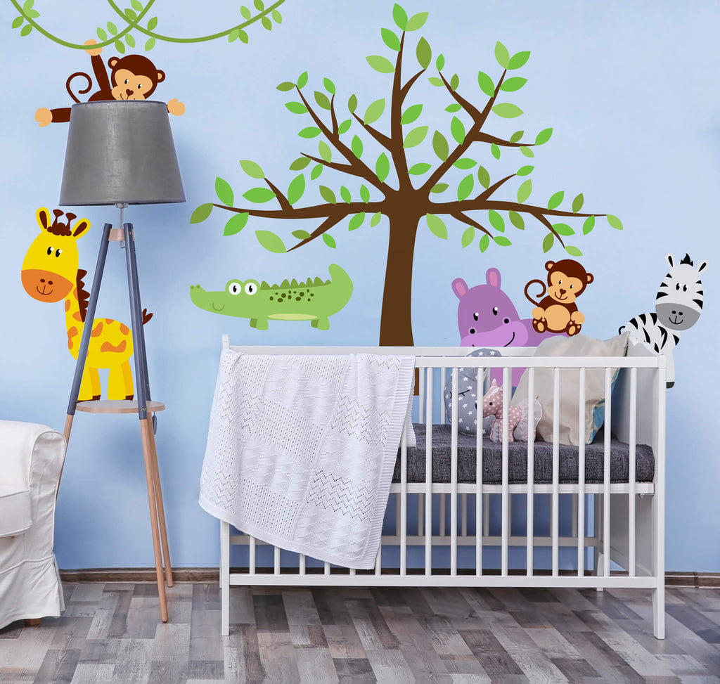 Safari Adventure! Animal Nursery Wall Decals
