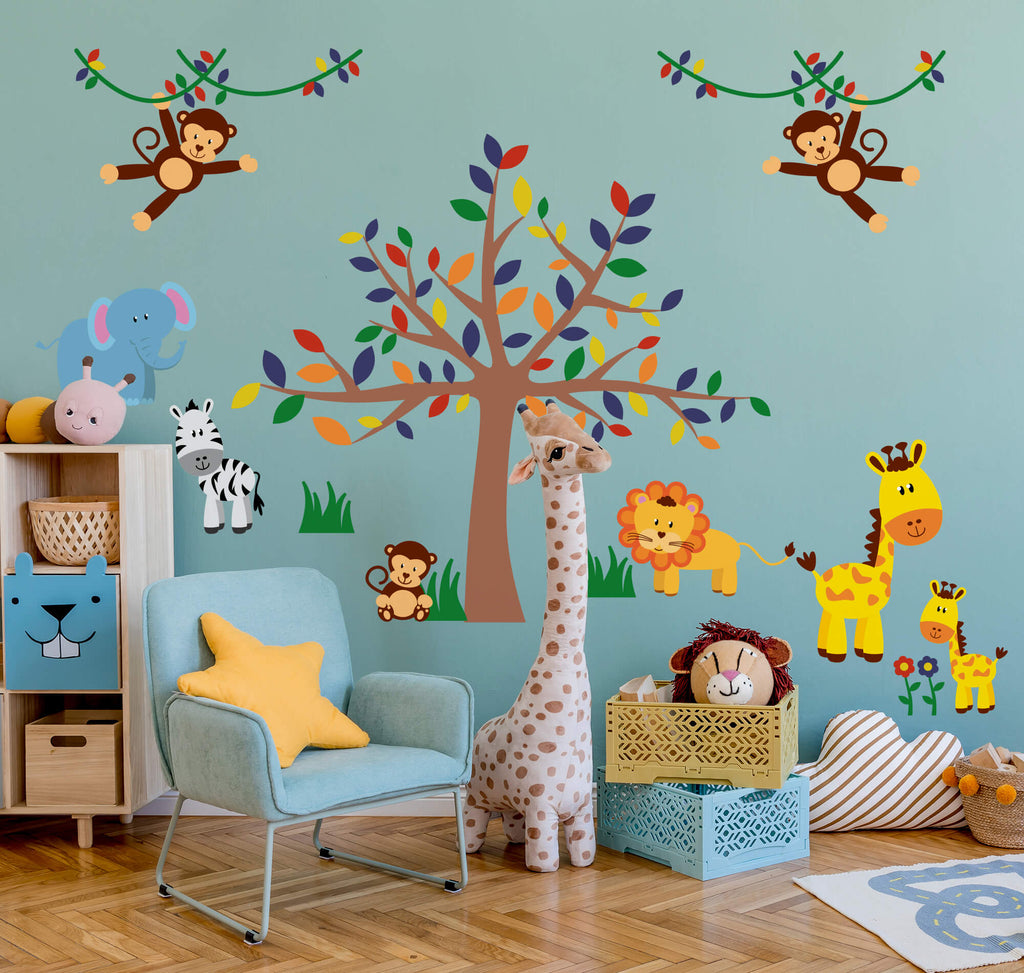 The Jungle Room! Baby Animal Wall Decals