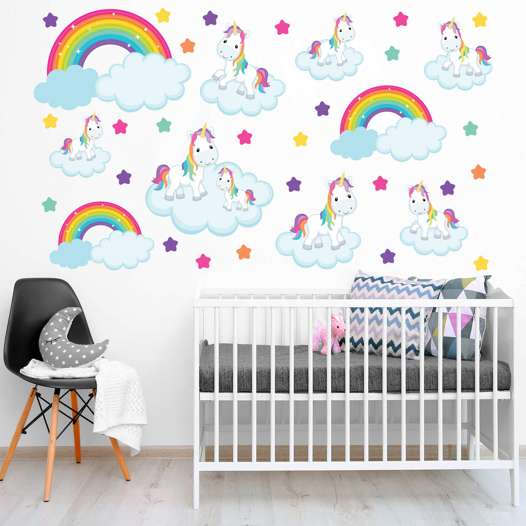 Unicorn Wonderland! Nursery Animal Wall Decals