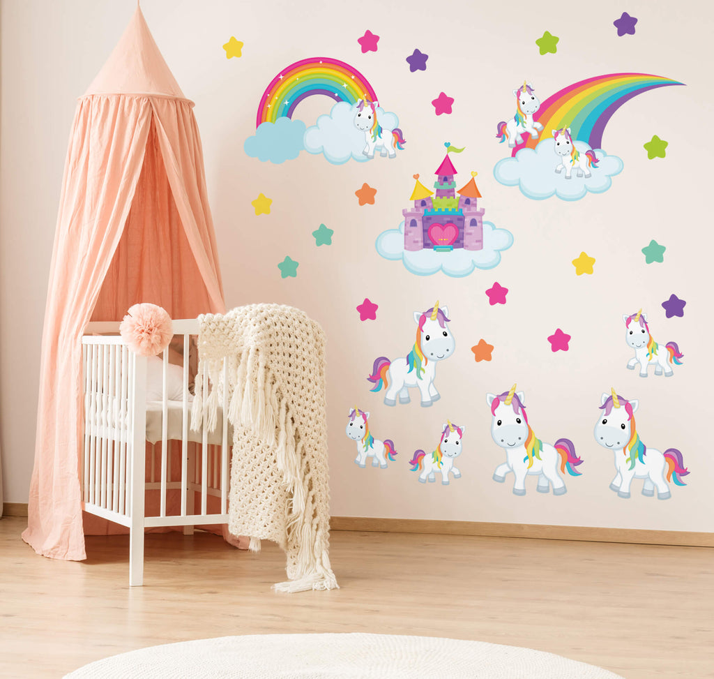 Castle in the Clouds! Unicorn Animal Wall Decals
