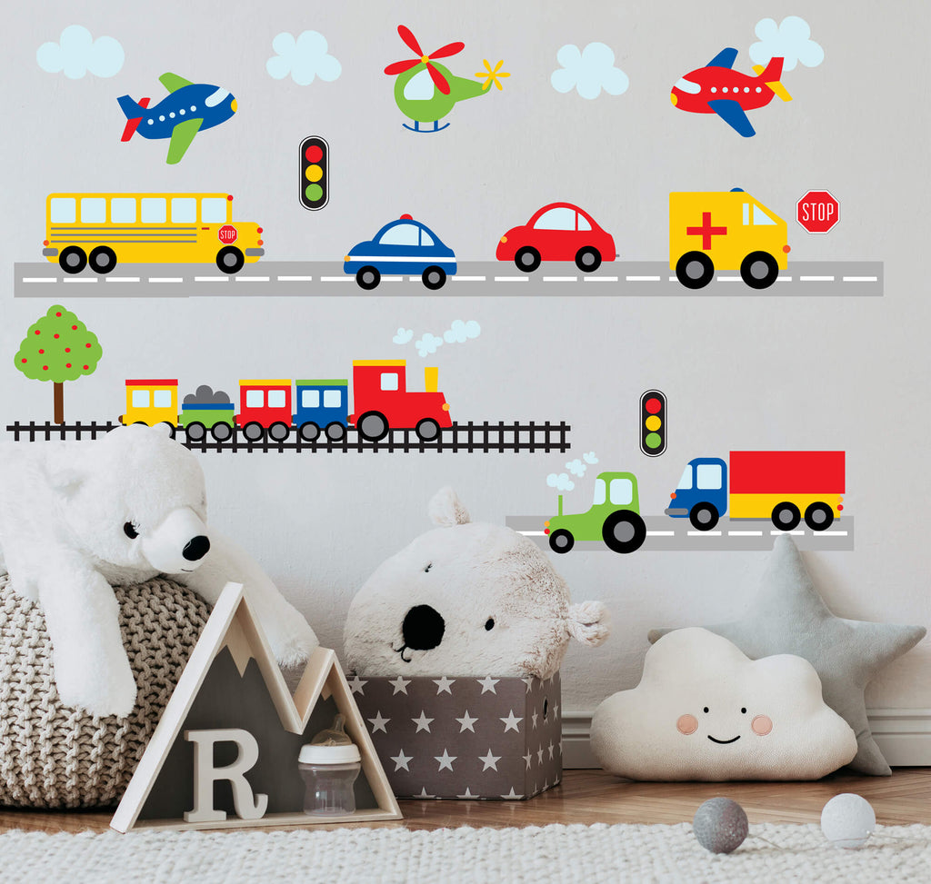 Planes, Trains, & Automobiles Wall Decals