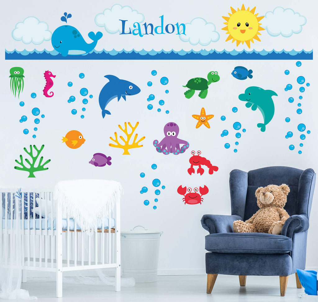 Ocean Adventure Awaits! Nursery Wall Decals