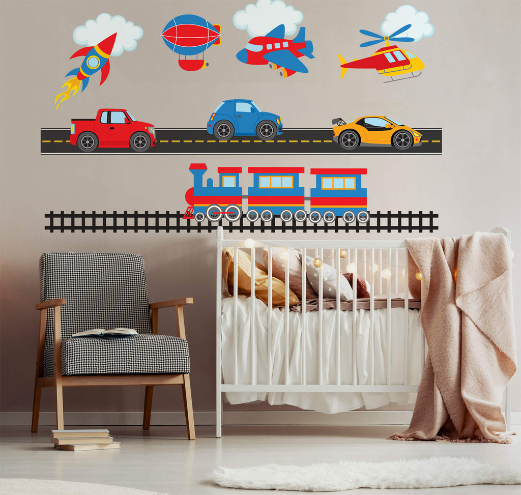 Boys Will Be Boys! Transportation Wall Decals