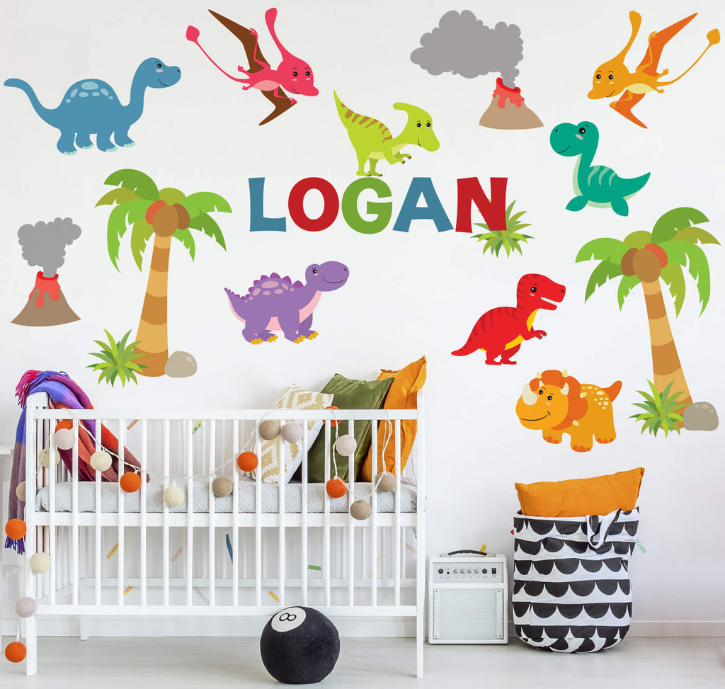 """Dinosaur World"" Removable Wall Stickers"