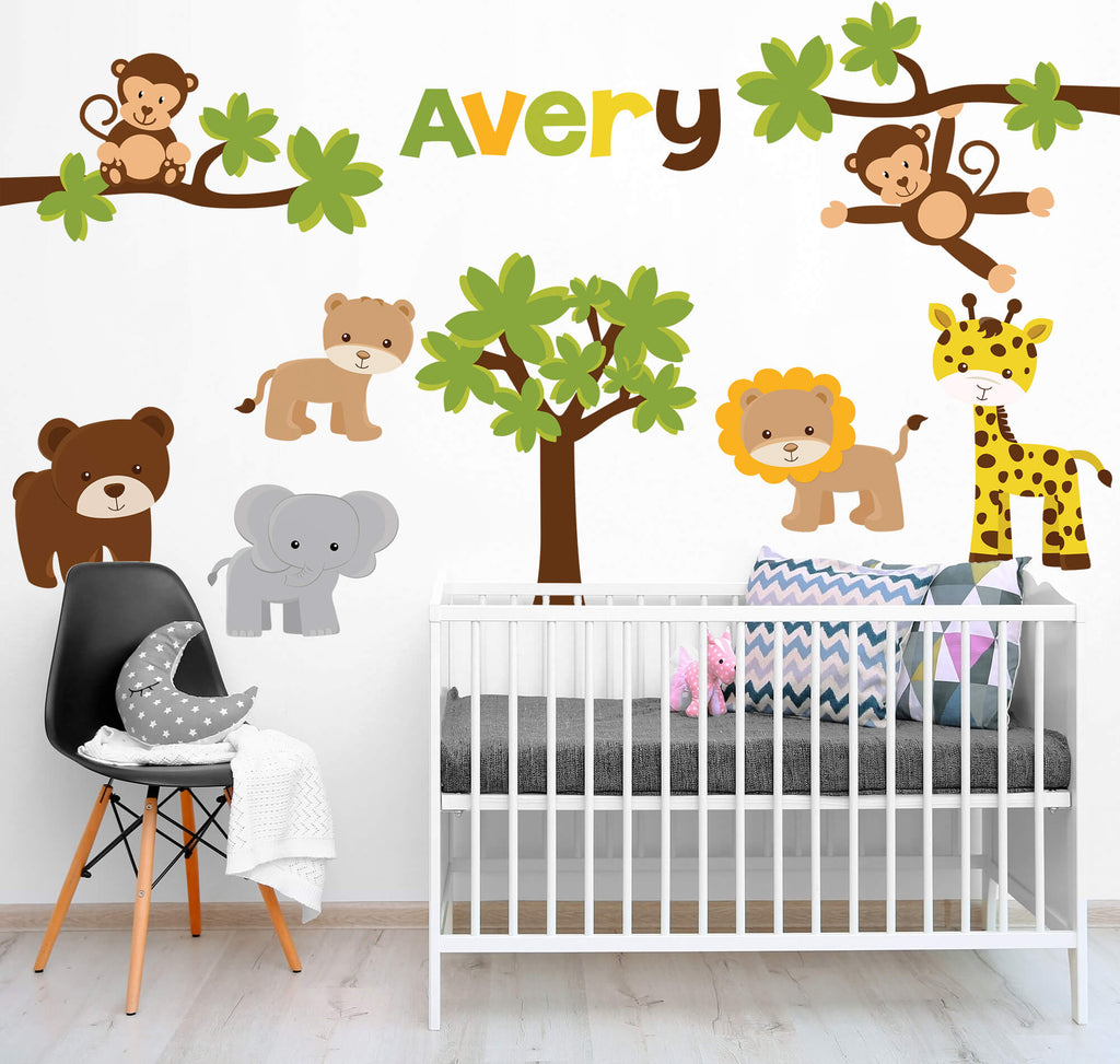 Jungle Habitat! Animal Nursery Wall Decals