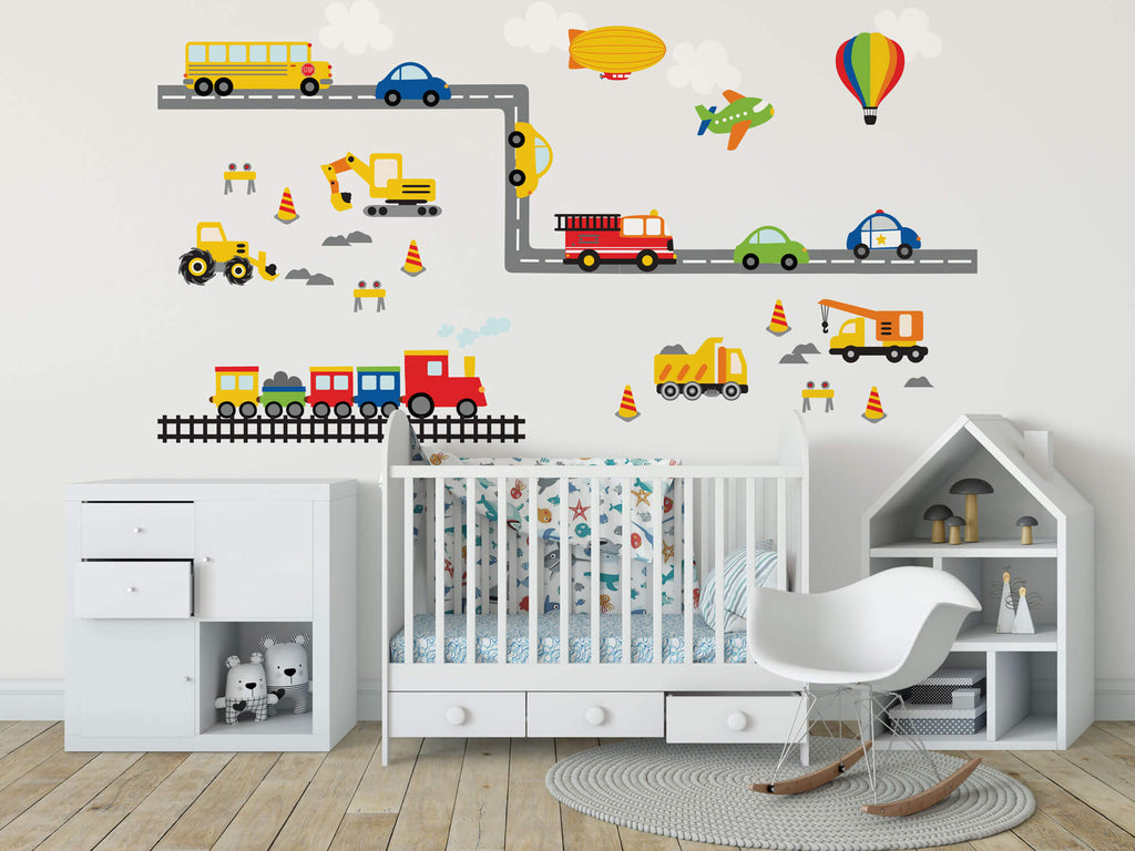 Flying, Driving, & Construction Wall Decals