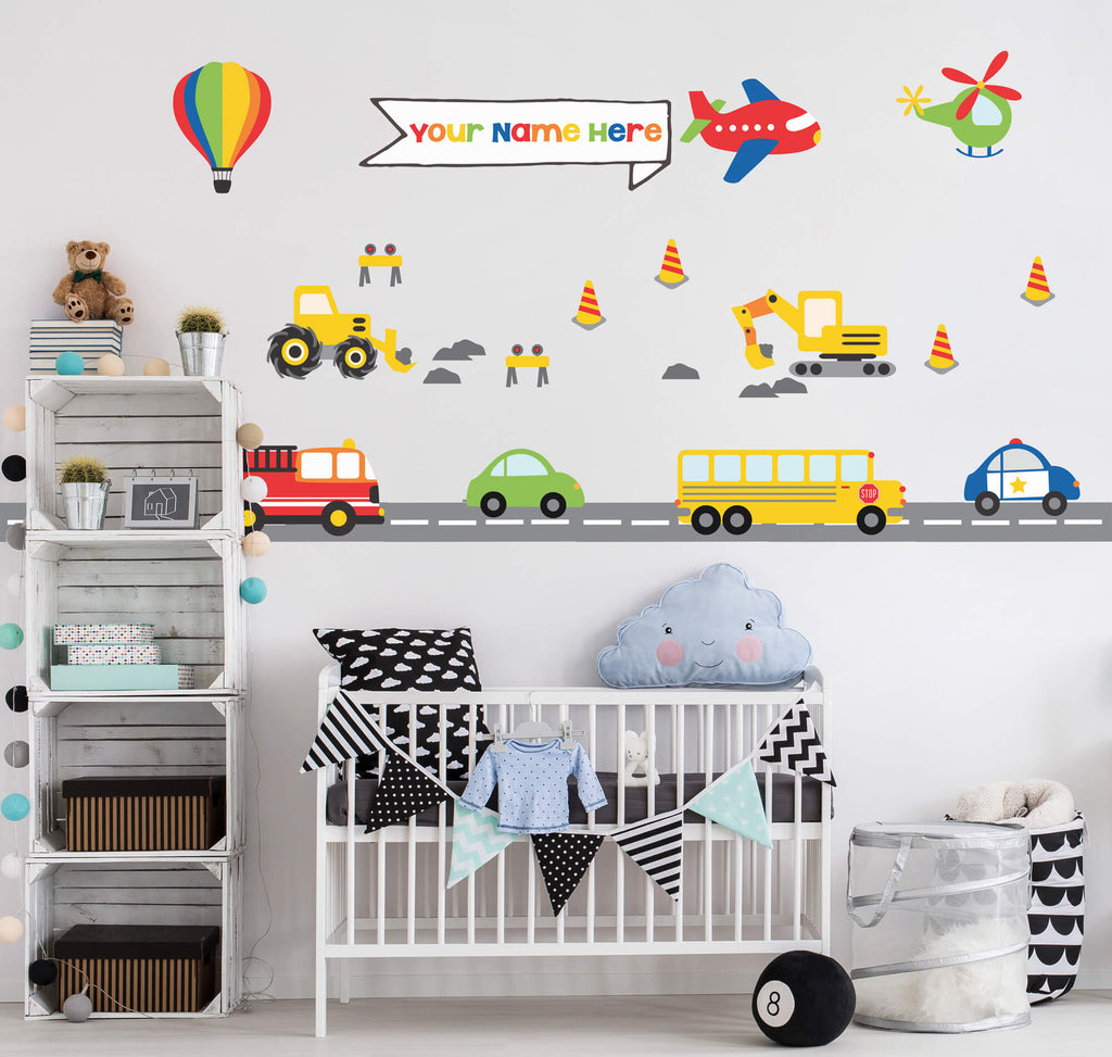 Building Boys! Transportation Wall Decals