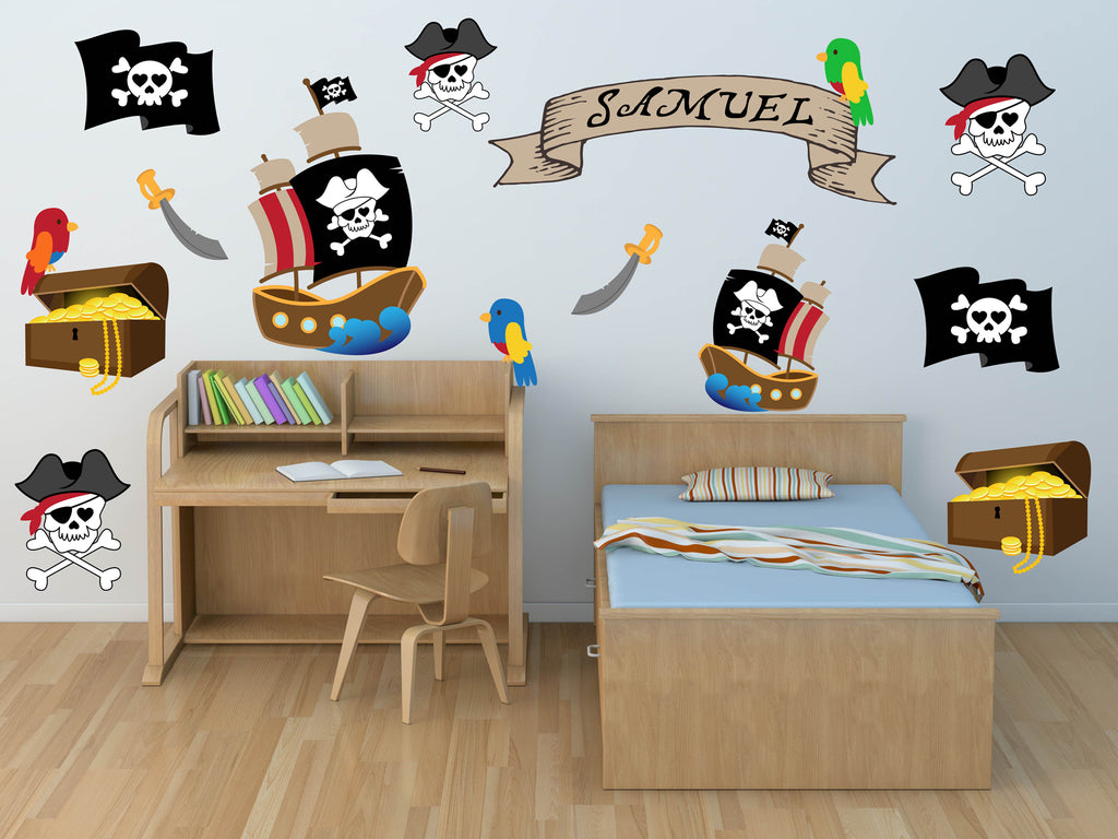 Pirate Nursery Wall Decals