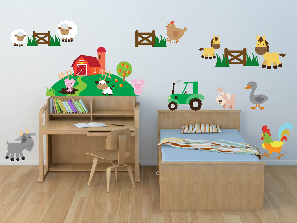 Farm Animal Nursery Wall Decals