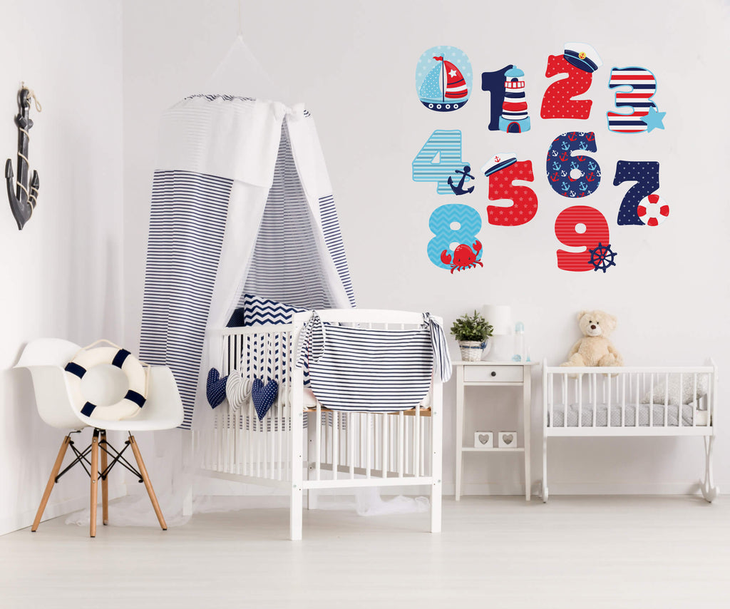 Nautical Numbers Wall Decals