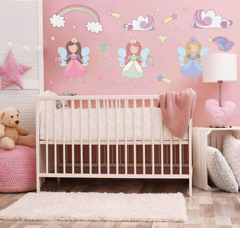 """Your Fairy Welcome"" Peel & Stick Girls Wall Decals"