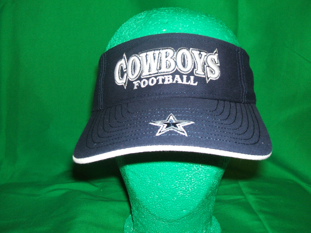 NFL Dallas Cowboys Reebok Visor -with adjustable back (color Navy Blue)