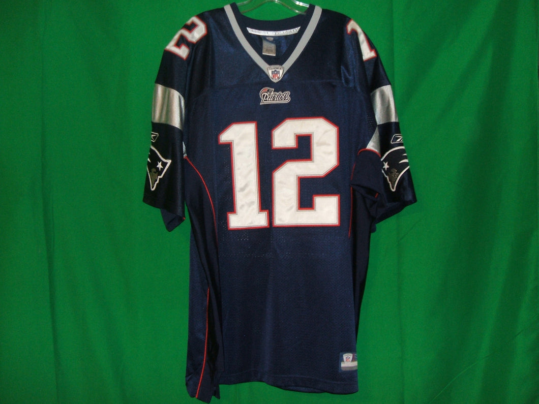 NFL New England Patriots  Reebok on Field Authentic Game Jersey BRADY 12