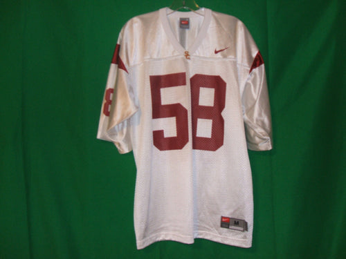 USC Trojans  Nike- white and crimson  jersey # 58