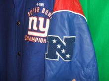 Load image into Gallery viewer, NFL New York Giants Leather and Wool Super Bowl Jacket