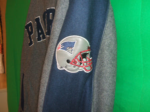 NFL  New England Patriots Authentic Wool with Leather Jacket