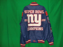 Load image into Gallery viewer, NFL New York Giants Authentic all Leather Super Bowl Jacket