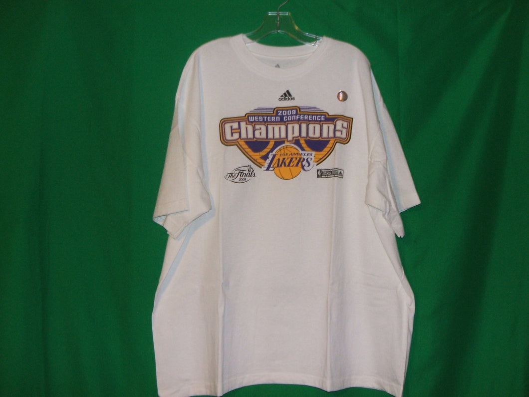 NBA Los Angeles Lakers Adidas MEMORABILIA* 2009 Champions T-Shirt