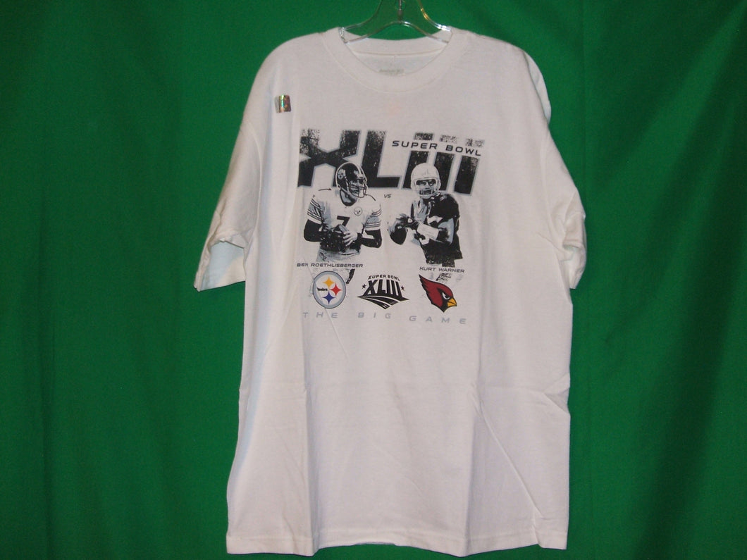 NFL Steelers vs Cardinals  Reebok SUPERBOWL XLIII * MEMORABILIA* T-Shirt