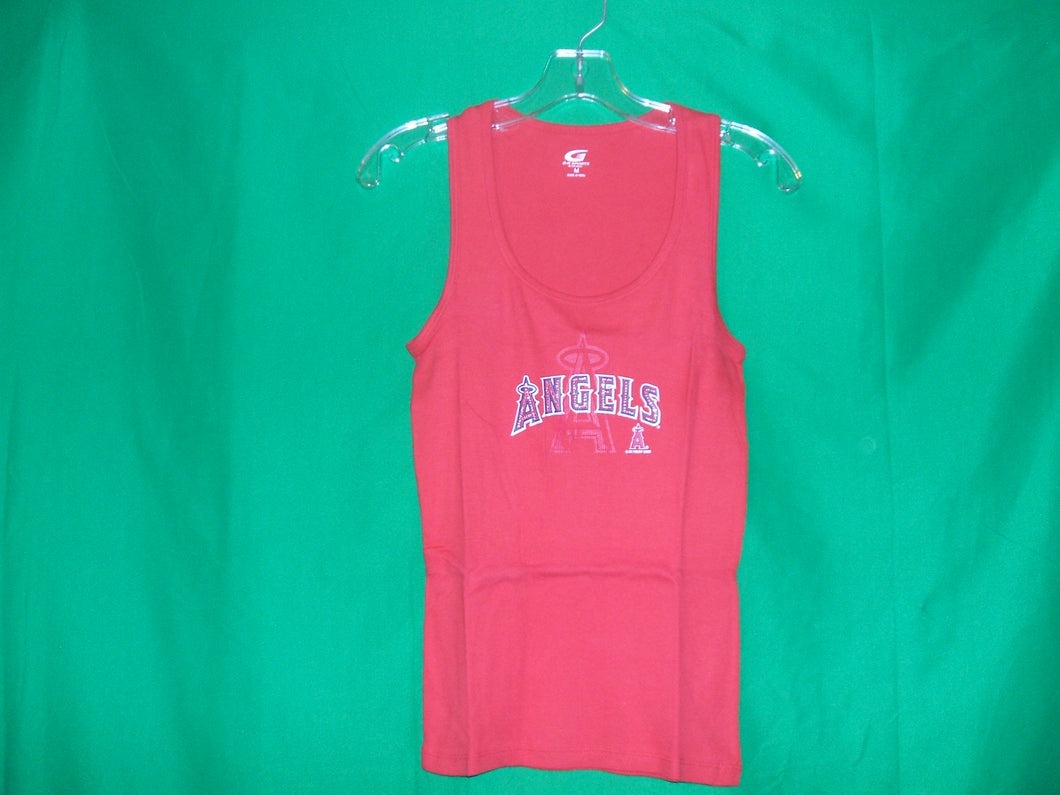 MLB Ladies Los Angeles G-III Sports Ribbed Tank Top* T-Shirt with Rhinestones