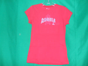 MLB Ladies Los Angeles Angels  G-III Sports * T-Shirt with Rhinestones