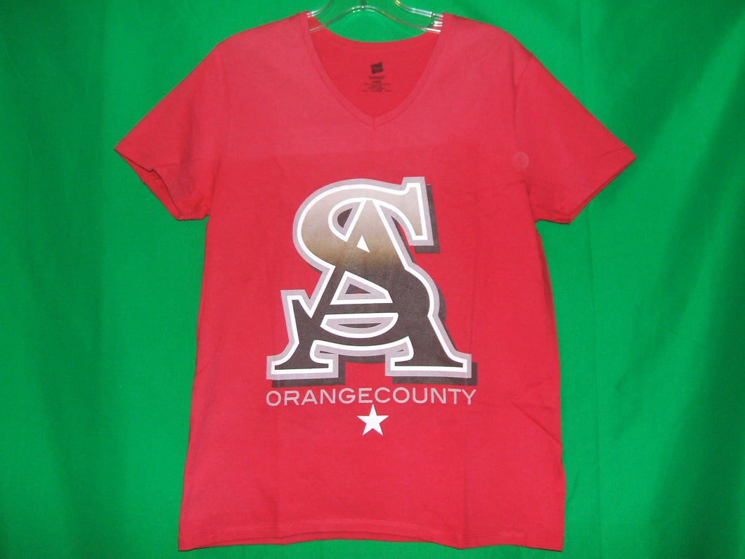 Santa Ana SA Orange County Ladies Napsac* V-Neck T-Shirt