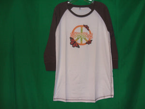 "Napsac ""Peace"" Mid-Sleeves Vintage* T-Shirt"