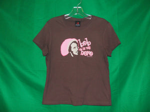 "Bob Marley ""Bob is my hero"" Ladies T-Shirt"