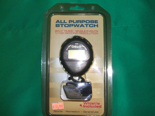 All Purpose Stopwatch with Whistle Included