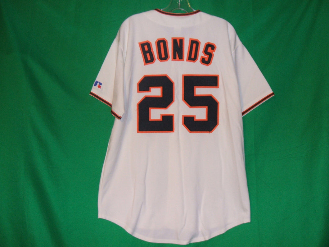 MLB  Russell Athletics San Francisco Giants #25 Barry Bonds Jersey