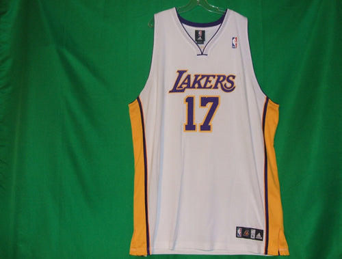 Adidas Andrew Bynum Los Angeles Lakers #17 NBA White
