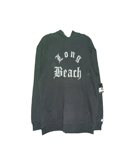 STARTER Brand LONG BEACH Pullover Hoodie (color black)