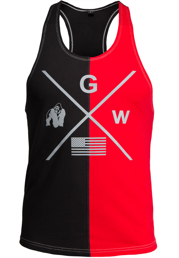 Sterling Stringer Tank Top - Black/Red