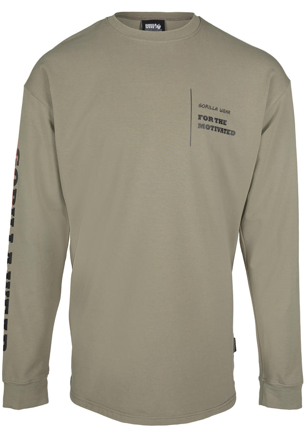 Boise Oversized Long Sleeve - Army Green