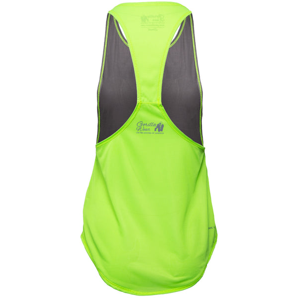 Florida Stringer Tank Top Gray/Neon Lime