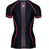 Carlin Compression Short Sleeve Top - Black/Pink