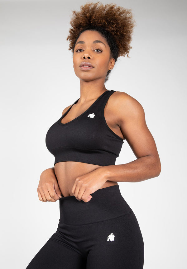 Neiro Seamless Sports Bra - Black