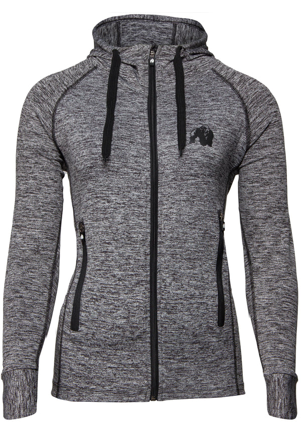 Shawnee Zipped Hoodie - Mixed Gray