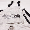 Dolores Dungarees - Gray/Black