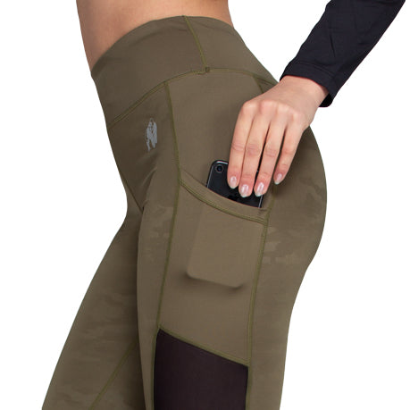 Savannah Mesh Tights - Army Green Camo