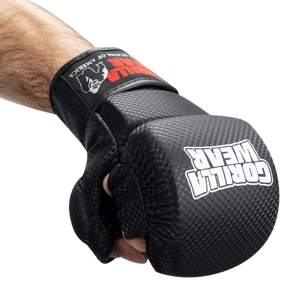 Ely MMA Sparring Gloves - Black/White