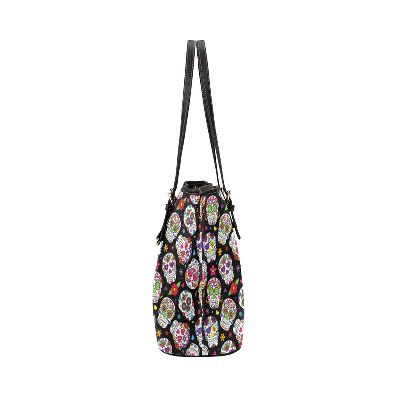 Sugar Skulls - Leather Tote for Ladies