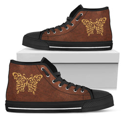 Butterfly - Black High Tops for Men