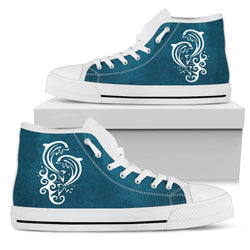 Dolphins - White High Tops for Women